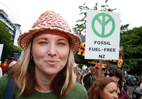 Ahead of the UN Climate Summit in Paris more than 15,000 New Zealanders including actress Lucy Lawless take part in the Peoples Climate March in Queen St, Auckland, kicking off what will be the largest climate mobilisation the world has ever seen. Over the weekend there will be marches in more than 2000 cities around the globe, and in 34 other New Zealand locations, challenging the leaders of the world to take real climate action. Greenpeace/Nigel Marple